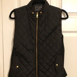 C'Esttoi Navy Puffer Vest - Size M
